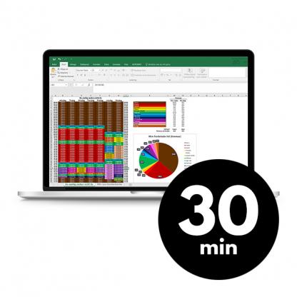Digital översikt för att få koll på vad du lägger tid på och planera din tid framöver. butik.merstruktur.se